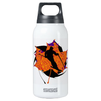 SKIING MAKES IT INSULATED WATER BOTTLE