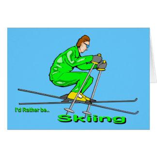 Skiing Man Card