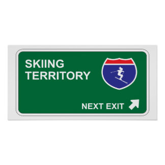Skiing Next Exit Poster
