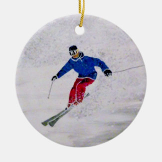 Skiing ornament