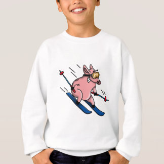skiing pig sweatshirt