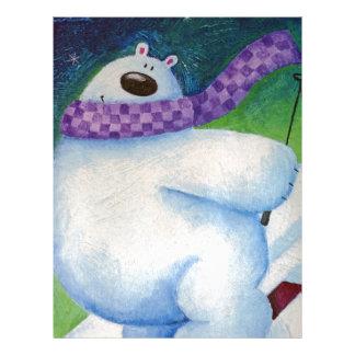 Skiing Polar Bear Letterhead