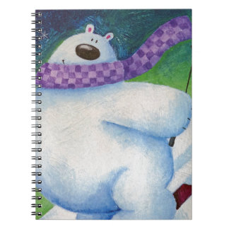 Skiing Polar Bear Notebooks
