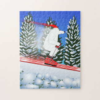 Skiing Polar Bear Puzzle