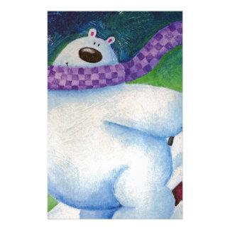 Skiing Polar Bear Stationery