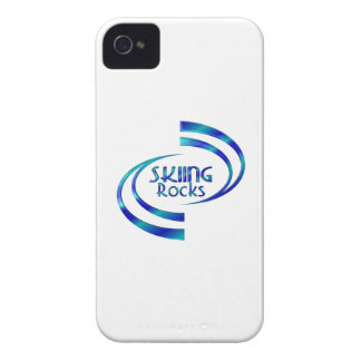 Skiing Rocks iPhone 4 Case