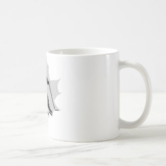 SKIING SILVER SIDED COFFEE MUG