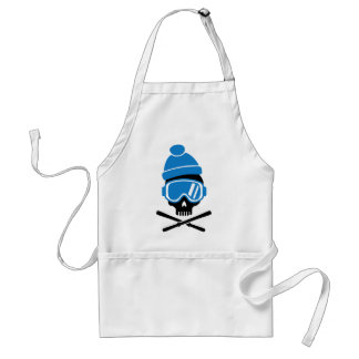 Skiing skull standard apron