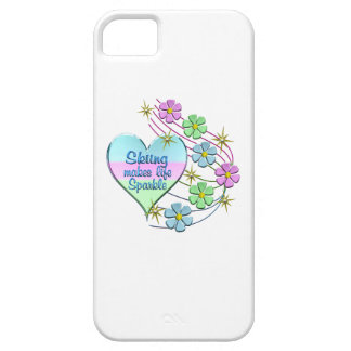 Skiing Sparkles iPhone 5 Cases