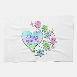 Skiing Sparkles Kitchen Towel