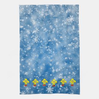 Skiing Star Kitchen Towel