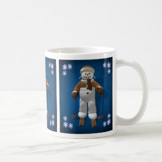 Skiing Vintage Snowman Coffee Mug