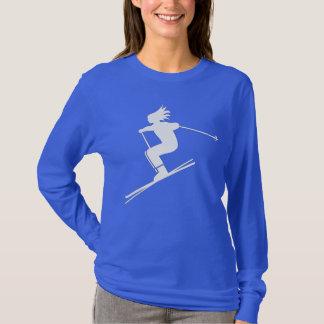 Skiing Women's Basic Long Sleeve T-Shirt