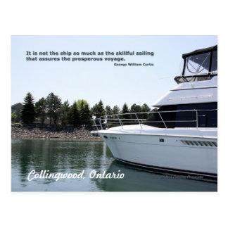 Skillful Sailing Postcard