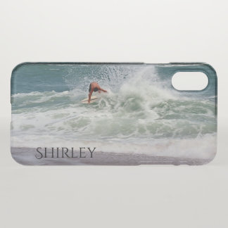 Skimboarding by Shirley Taylor iPhone X Case
