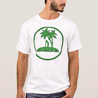 Skimcaribbean Green Palm logo t-shirt