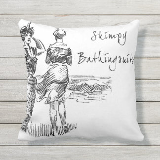 Skimpy Bathing Suits Throw Pillow