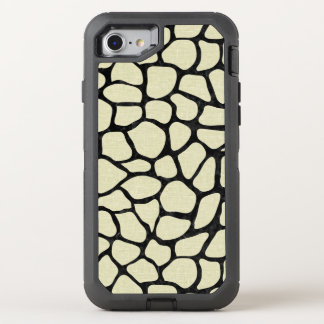SKIN1 BLACK MARBLE & BEIGE LINEN OtterBox DEFENDER iPhone 8/7 CASE