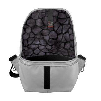 SKIN1 BLACK MARBLE & BLACK WATERCOLOR COURIER BAG