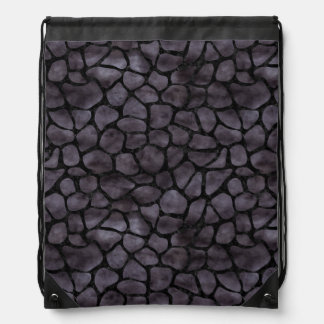 SKIN1 BLACK MARBLE & BLACK WATERCOLOR DRAWSTRING BAG