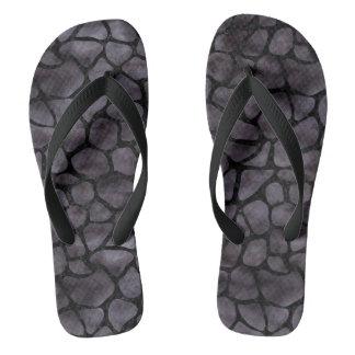 SKIN1 BLACK MARBLE & BLACK WATERCOLOR FLIP FLOPS