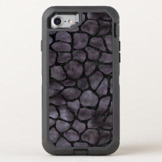 SKIN1 BLACK MARBLE & BLACK WATERCOLOR OtterBox DEFENDER iPhone 8/7 CASE
