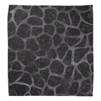 SKIN1 BLACK MARBLE & BLACK WATERCOLOR (R) BANDANA