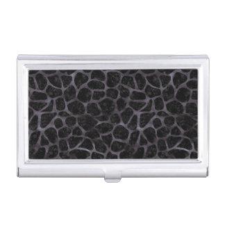 SKIN1 BLACK MARBLE & BLACK WATERCOLOR (R) BUSINESS CARD HOLDER