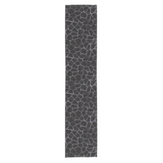 SKIN1 BLACK MARBLE & BLACK WATERCOLOR (R) SHORT TABLE RUNNER