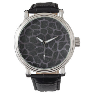 SKIN1 BLACK MARBLE & BLACK WATERCOLOR (R) WRISTWATCHES