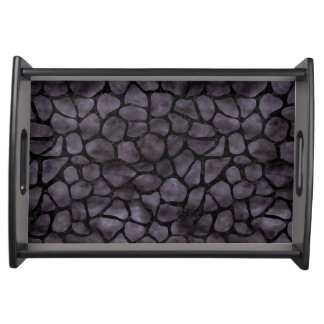 SKIN1 BLACK MARBLE & BLACK WATERCOLOR SERVING TRAY