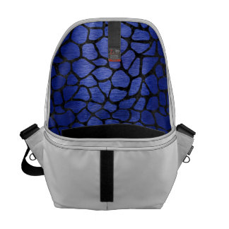 SKIN1 BLACK MARBLE & BLUE BRUSHED METAL COURIER BAG