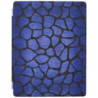 SKIN1 BLACK MARBLE & BLUE BRUSHED METAL iPad COVER