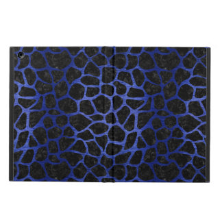 SKIN1 BLACK MARBLE & BLUE BRUSHED METAL (R) CASE FOR iPad AIR