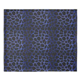 SKIN1 BLACK MARBLE & BLUE BRUSHED METAL (R) DUVET COVER