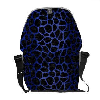 SKIN1 BLACK MARBLE & BLUE BRUSHED METAL (R) MESSENGER BAG