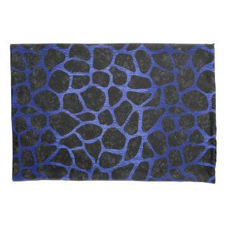 SKIN1 BLACK MARBLE & BLUE BRUSHED METAL (R) PILLOWCASE
