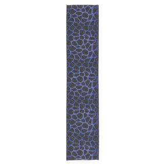 SKIN1 BLACK MARBLE & BLUE BRUSHED METAL (R) SHORT TABLE RUNNER