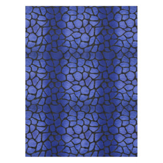 SKIN1 BLACK MARBLE & BLUE BRUSHED METAL TABLECLOTH