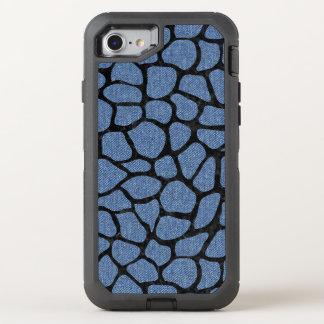 SKIN1 BLACK MARBLE & BLUE DENIM OtterBox DEFENDER iPhone 8/7 CASE