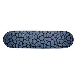 SKIN1 BLACK MARBLE & BLUE DENIM SKATEBOARD