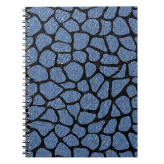 SKIN1 BLACK MARBLE & BLUE DENIM SPIRAL NOTEBOOK