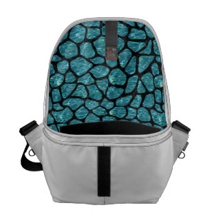 SKIN1 BLACK MARBLE & BLUE-GREEN WATER COURIER BAG