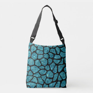 SKIN1 BLACK MARBLE & BLUE-GREEN WATER CROSSBODY BAG