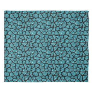 SKIN1 BLACK MARBLE & BLUE-GREEN WATER DUVET COVER