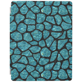 SKIN1 BLACK MARBLE & BLUE-GREEN WATER iPad COVER