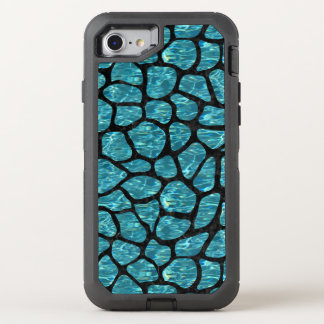 SKIN1 BLACK MARBLE & BLUE-GREEN WATER OtterBox DEFENDER iPhone 8/7 CASE