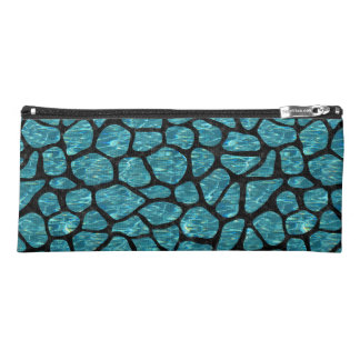 SKIN1 BLACK MARBLE & BLUE-GREEN WATER PENCIL CASE
