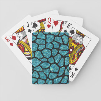 SKIN1 BLACK MARBLE & BLUE-GREEN WATER PLAYING CARDS
