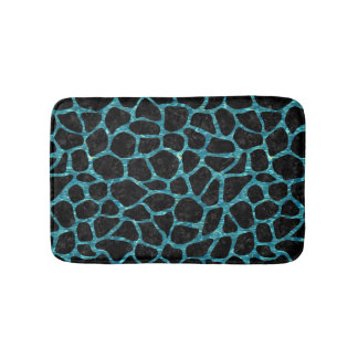 SKIN1 BLACK MARBLE & BLUE-GREEN WATER (R) BATH MAT